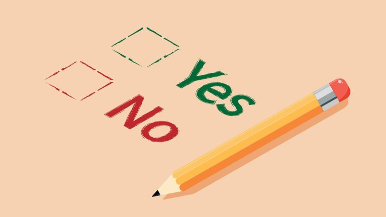 yes no, choice, survey