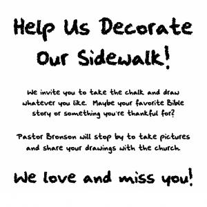 Help Us Decorate Our Sidewalk!